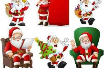 Santa Claus with Christmas gifts and tree 5