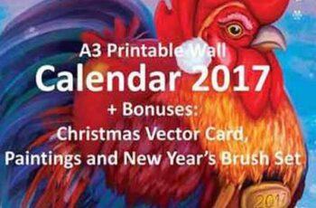 Printable Calendar 2017 'Rooster+' 1069180 13