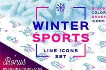 Winter Sport Icons Branding Graphics 1052853 3
