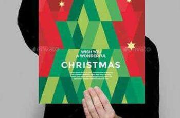 Modern Geometric Christmas Card Flyer 18917660 15