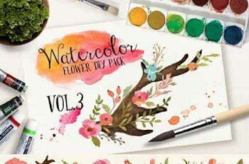 Watercolor Flower DIY Pack Vol.3 111556 7