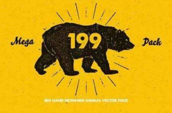 58 Hand Drawn Animal Pack 189620 5