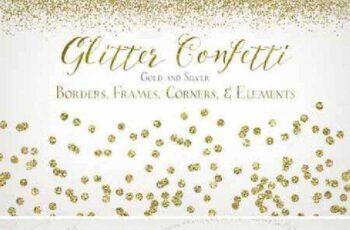Glitter Confetti Borders & Elements 258389 5