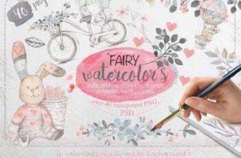 Fairy watercolors Bundle 520887 8