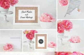 Stock Photo+Frame Mockup 5 Images 680483