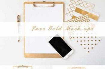 Gold Luxe Product Mockup Bundle 683098 6
