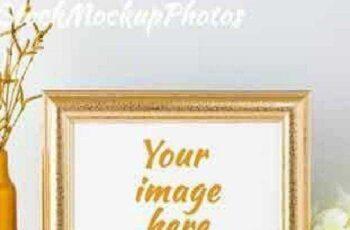 Landscape gold frame mockup 693239 15