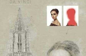 Da Vinci - Hand Drawn Sketch Photoshop Action 16753868