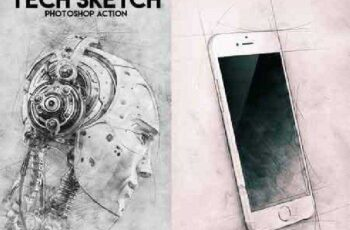 Tech Sketch Photoshop Action 16777317 4