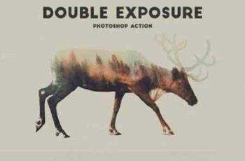 Double Exposure Photoshop Action Pro 326439 3