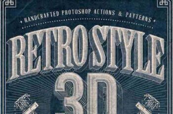 Retro Style 3D Tools - Photoshop Actions 7722029 4