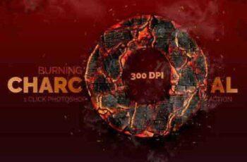Burning Charcoal - Photoshop Action 16751028 2