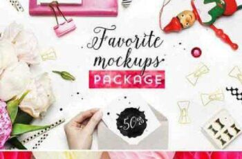 Styled photos. Mockups package. 282356