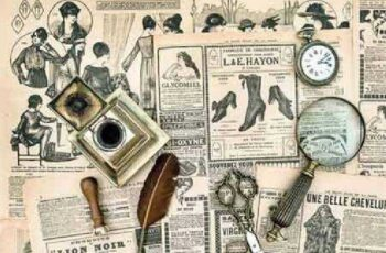 Antique office accessories, old letters and postcards vintage - 13 UHQ JPEG 1
