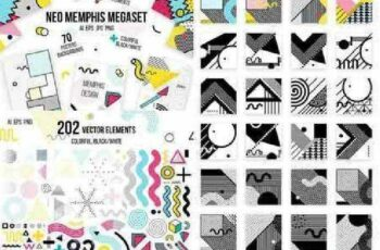 272 patterns, elements MEMPHIS set 1021399 4