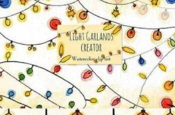Light garlands creator. Clip art 1014101 5