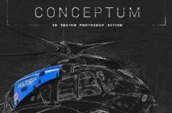 1701294 Conceptum 3D Sketch Photoshop Action 19173555 7