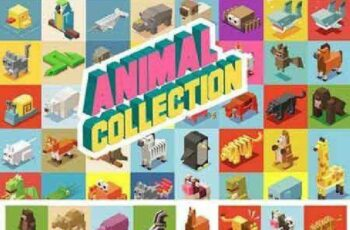 1701010 Animals Isometric collection 646700 5