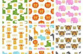 1701012 Animals vector seamless pattern 8 EPS 7