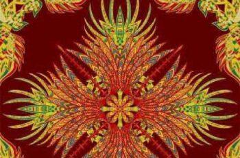 1701016 Aztec geometric seamless pattern 21 EPS 3