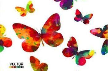 1701029 Butterflies vector background 25 EPS 2