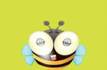 1701051 Cute cartoon bee 16 EPS 2