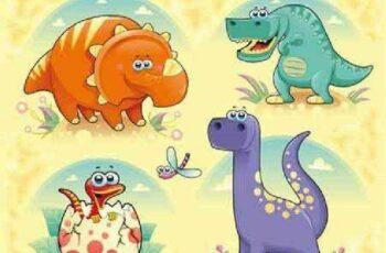 1701056 Dinosaurs Family 10 EPS 7