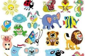 1701076 Funny animals 10 EPS 7