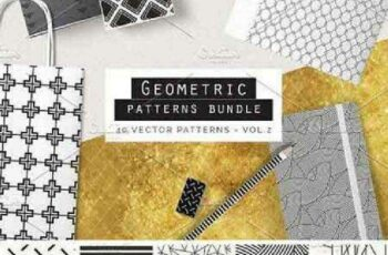 1701084 Geometric Patterns Bundle vol2 726608 4