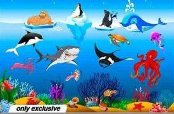 1701111 Magical underwater world 21 EPS 7