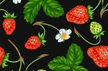 1701149 Seamless pattern with red strawberries 18 EPS 7