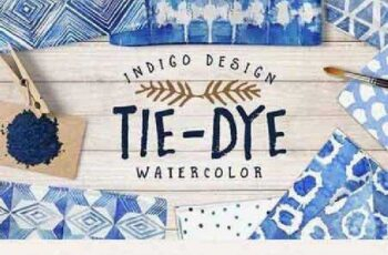 1701165 Tie-Dye watercolor patterns pack 728186 3