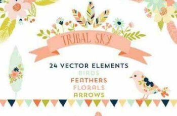 1701167 Tribal Sky Vector Elements 62148 3