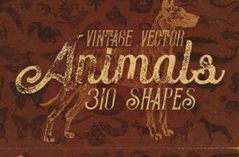 1701175 Vintage Animals Vectors 777712 3