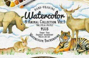 1701178 Watercolor Animal Vol1 Plus 472014
