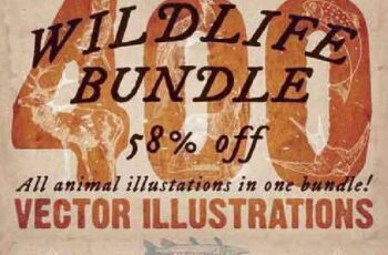 1701182 Wildlife Bundle 400 animal vectors 215689 5