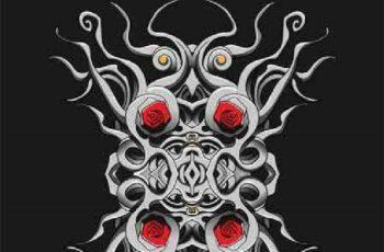 1701188 Gothic pattern 19 EPS 3