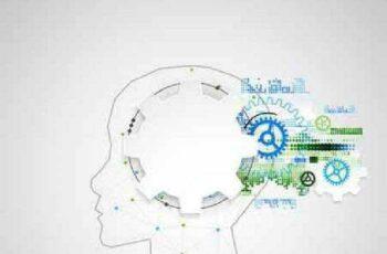 1701191 Creative brain concept background 25 EPS 2