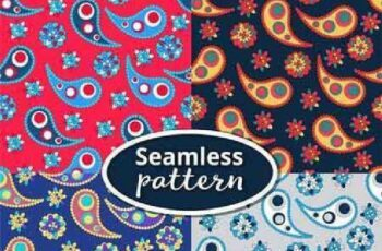 1701206 Set seamless pattern based on traditional Asian elements 25 EPS