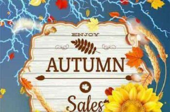 1701227 Background on a theme of autumn Sale 25 EPS 3