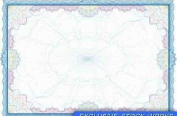 1701259 Classic guilloche border for diploma or certificate 8 EPS 7
