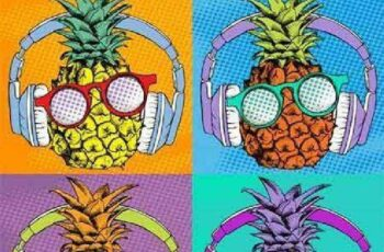 1701266 Seamless pattern with the image of pineapple fruit 38 EPS 7