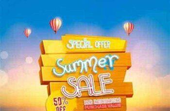 1701267 Summer sale background design with beach 11 EPS 6