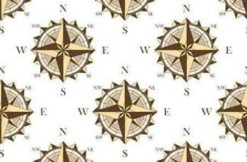 1701273 Seamless pattern with nautical compasses 9 EPS 6
