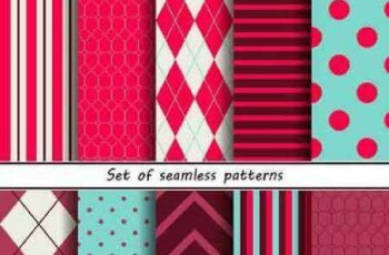 1701310 Seamless Pattern Collection 57 15 Vector 2