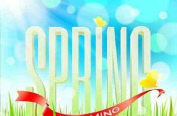 1701313 Spring Background 25 Vector 6