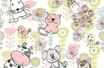 1701377 Sweet babies doodle seamless pattern 9 EPS 8