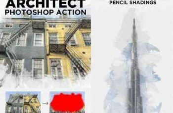 1702024 Architect Photoshop Action - Sketch Effect Creator 16564946 8