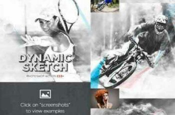 1702043 Dynamic Sketch Photoshop Action CS3+ 16363579 2