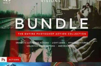 1702054 VISIONS - Photoshop Action Bundle 688493 2